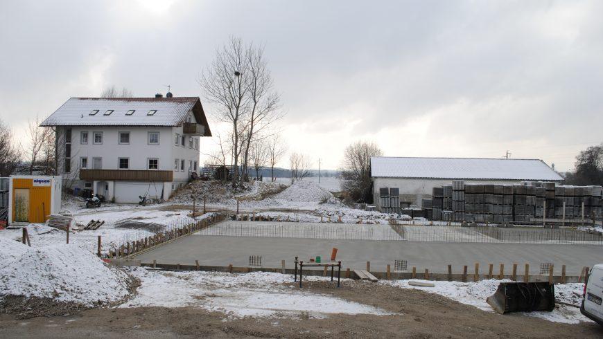Bodenplatte wird betoniert (zweite Dezemberwoche 2017)