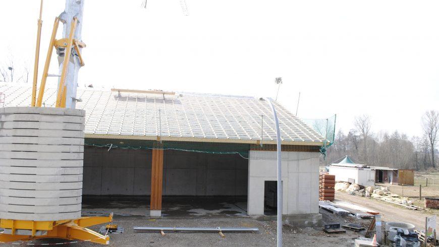 Dach wird vorbereitet (Mitte März 2018)